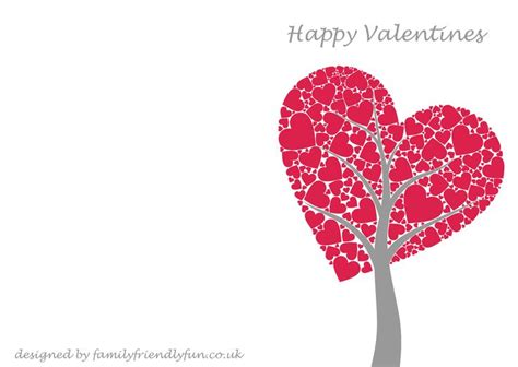 Valentines Day Card Template s card templates s day cards for children free printable cards