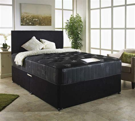 Divan Bed Sets Enya Black Divan Bed Set Discount Furnishings Outlet