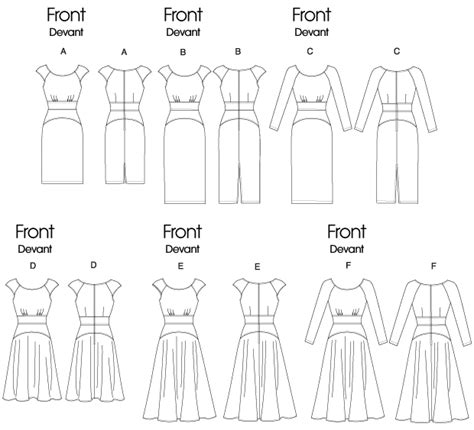 pattern review template vogue patterns 8685 misses dress