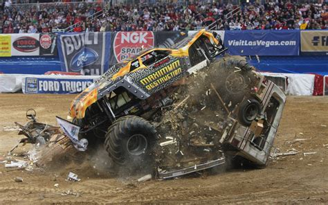 video monster truck accident monster truck wallpapers hd download