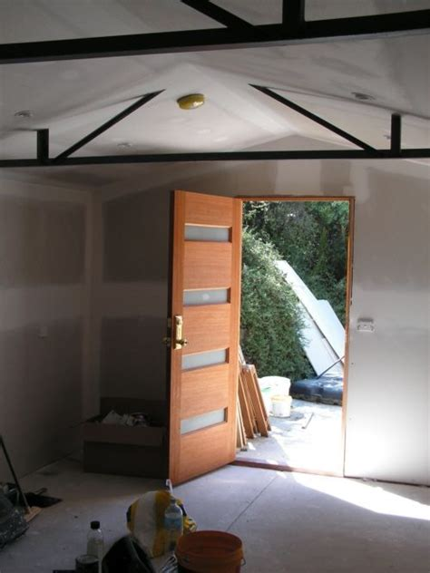 link shows progress in a shed conversion discusses things