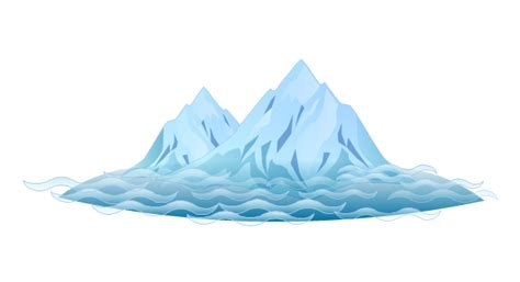 clipart iceberg water cycle diagram drawing illustration drawing a
