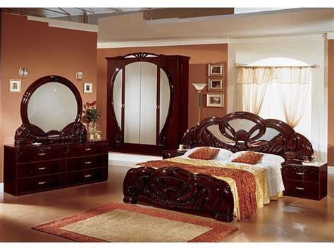 stylish italian mahogany high gloss bedroom furniture homegenies