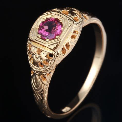 deco vintage ring pretty antique filigree tourmaline deco