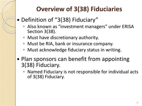 erisa section 3 1 ppt the different roles and responsibilities of 3 16 3