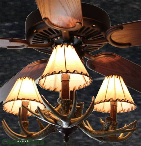 Ceiling Fans With Deer Antlers 27 Best Images About Rustic Lighting On Pinterest Flush