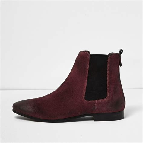 burgundy suede chelsea boots boots shoes boots