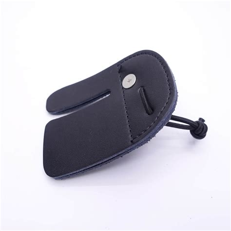 Finger Tab Archery Panahan Kulit Leather mandarin duck recurve bow finger tab leather black guard protective ebay