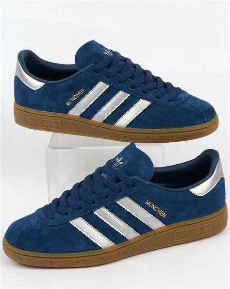 Adidas Munchen Blue Original adidas munchen trainers mystery blue silver originals shoes mens sneakers