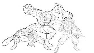 venom coloring pages free printable venom coloring pages for