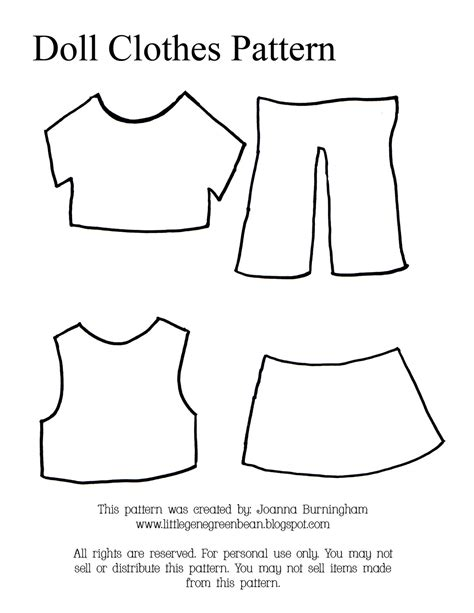 clothes pattern templates little gene green bean four quick easy and cheap