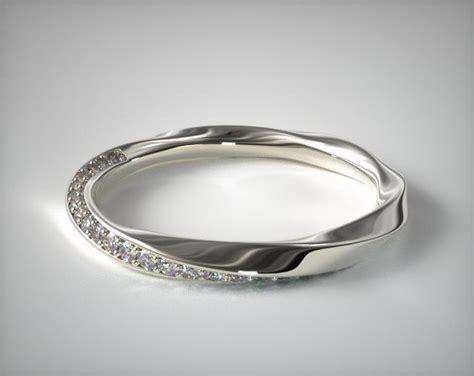 twisted pave wedding ring platinum allen 15610p