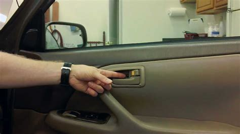 How To Replace Car Interior by How To Replace The Interior Door Handle On A Toyota Camry
