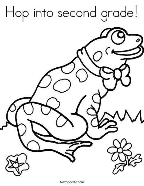 2nd Grade Coloring Pages hop into second grade coloring page twisty noodle