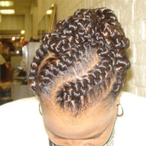 goddess french braid goddess braids natural short hairstyle 2013