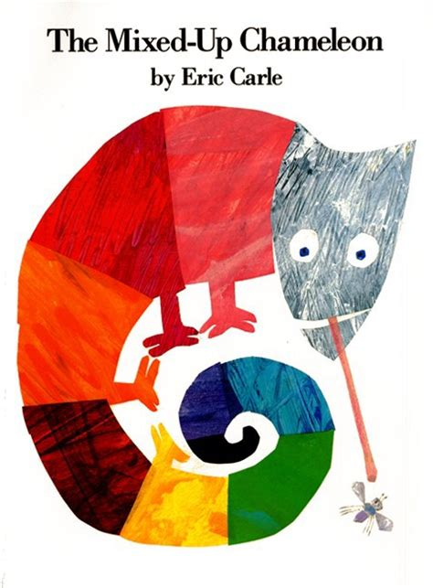 Eric Carle Printable Book Covers book review the mixed up chameleon by eric carle