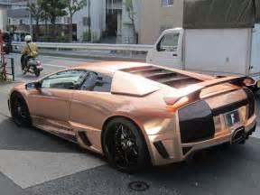 Chrome Wrapped Lamborghini Chagne Chrome Lamborghini Car Wrap Chrome