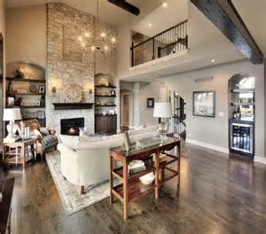 Open Floor Plan Homes With Pictures 2 Story Fireplace Balcony Open Floor Plan Http Www Bickimerhomes Model Homes