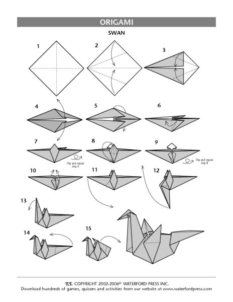 Origami Worksheet - lesson plan for origami crane comot