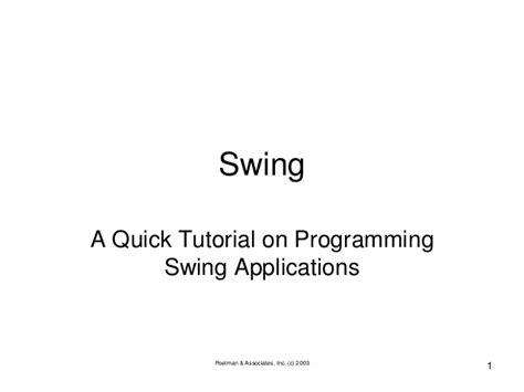 java swing tutorial for beginners pdf java swing tutorial for beginners java programming tutorials