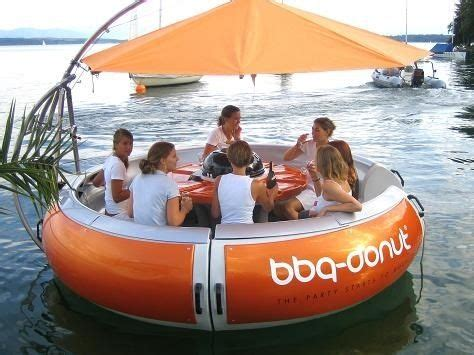 Donut Boat bbq donut boat for hire concept 3 donuts