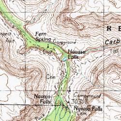 havasu falls arizona map havasu falls az