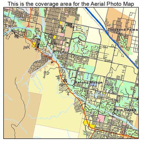 california map rancho mirage aerial photography map of rancho mirage ca california