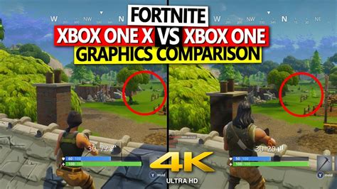 fortnite xbox fortnite xbox one x vs xbox one graphics comparison 4k 60