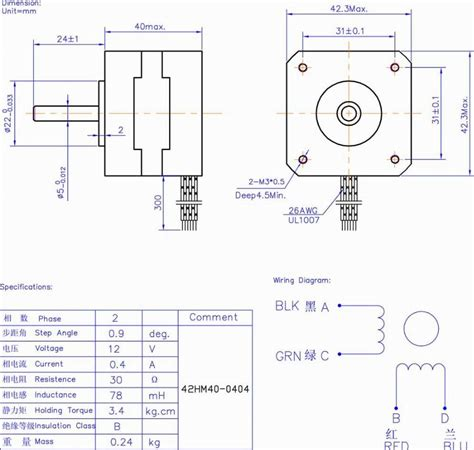 nema 17 stepper motor wiring diagram circuit and