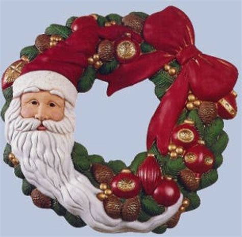 ceramic bisque santa ceramic bisque ready to paint wreath quot santa with