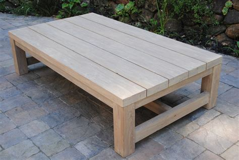 Outdoor Coffee Table Teak And Outdoor Coffee Tables Outdoor Wood Coffee Table Exhitz