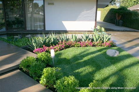 Lovely Ideas For Low Maintenance Landscaping #8: Midcentury-landscape.jpg
