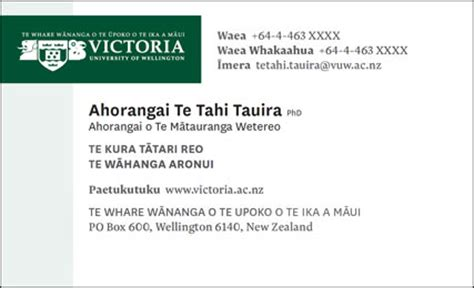 business card email signature bilingual email signatures and business cards māori at