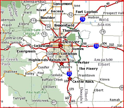 get local maps and links for denver, castle rock and