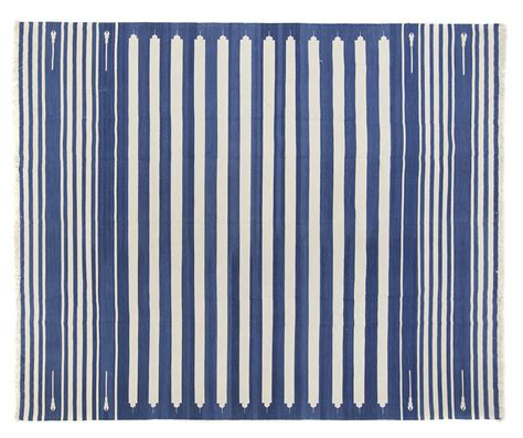 blue dhurrie rug striped cotton dhurrie rugs rugs ideas