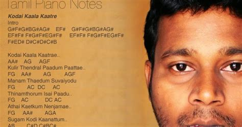 keyboard tutorial tamil songs tamil piano notes kodai kaala kaatre panneer pushpangal