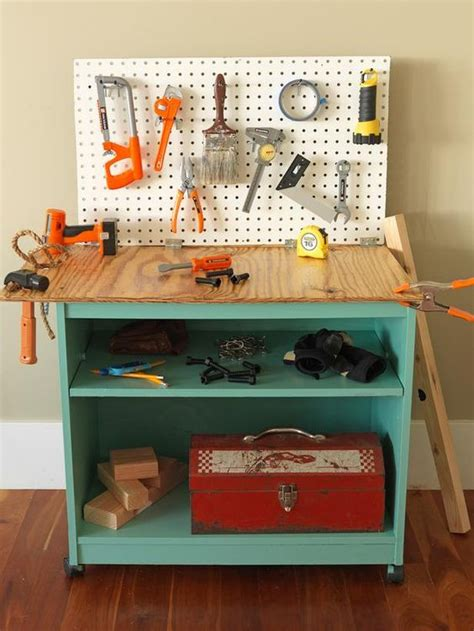 kids toy work bench how to turn old furniture into a kids toy workbench