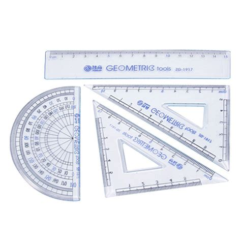 Set Of 4 Ruler zhigao 4 in 1 zg 1917 triangle protractor ruler