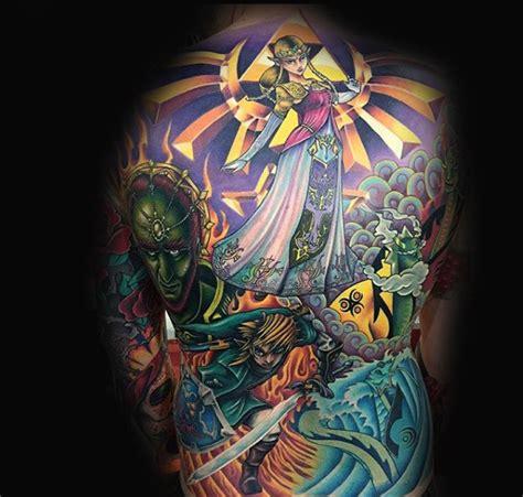 zelda tattoo back 90 zelda tattoos for men cool gamer ink design ideas