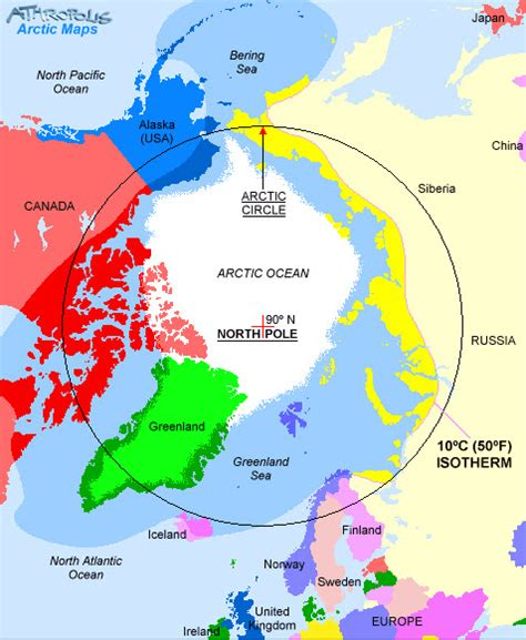 arctic map where does the arctic begin end beyond penguins and polar bears