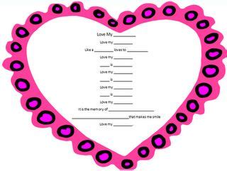free valentine poem template plus how to integrate