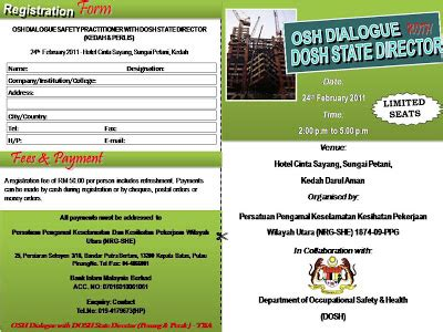 perjalananku: osh dialogue safety practitioner with dosh