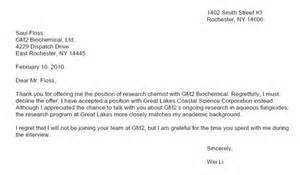 Reservation Rejection Letter Thank You Letter Learn Science At Scitable
