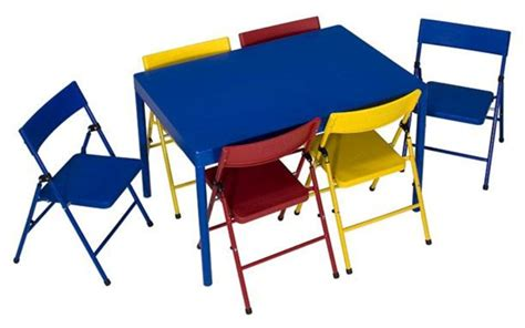 Folding Childrens Table And Chairs Childrens Folding Table And Chairs Set Chairs Seating