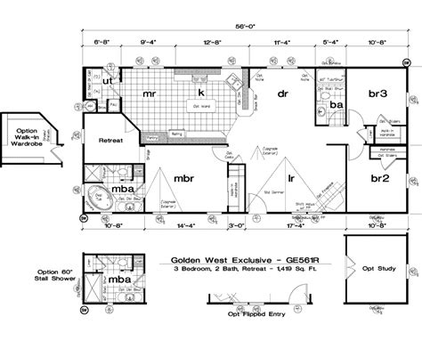 golden west manufactured homes floor plans golden west exclusive floorplans 304158 mobile homes now