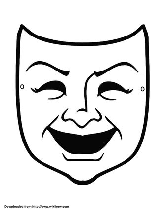 Theatre Mask Outline by How To Make A Tragedy And Comedy Mask Out Of Paper 5 Steps