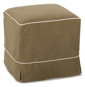 Ottoman Slipcover Skirted Slipcover Cube Ottoman Sunroom