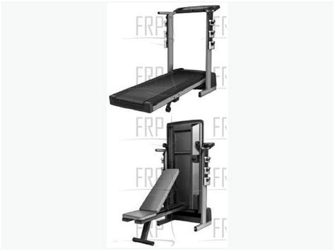 proform weight bench 2 5hp pro form crosstrainer treadmill with weight bench