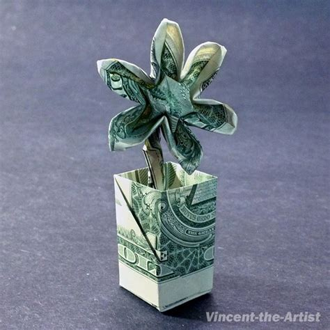 Origami Dollar Bill Flower - best 25 money origami ideas on folding money