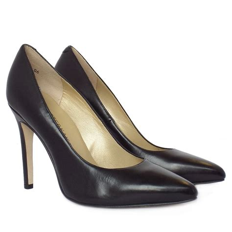 high shoes kaiser indigo black leather high heel shoes